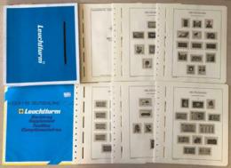 GERMANIA Fogli Leuchtturm 1980-1984 + 1999 Senza Taschine, Nuovi Mai Usati Nell'imballaggio Originale - Album & Raccoglitori