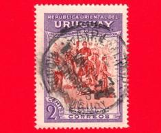 URUGUAY - (Republica Oriental) - Usato - 1952 - 100 Anni Della Morte Del Generale Jose Artigas (1950) - 2 - Uruguay