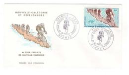 Nouvelle Caledonie 1970 Cachet Noumea Timbre 40F N° Pa119 Tour Cycliste Cyclisme Coureur Velo - Lettres & Documents