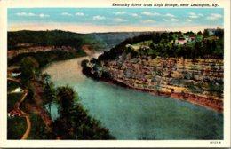 Kentucky Lexington Kentucky River From High Bridge Curteich - Lexington