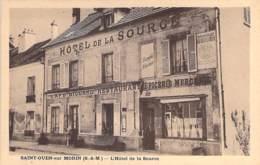 77 - SAINT OUEN Sur MORIN Le Café Hotel Restaurant Tabac Epicerie Mercerie - CPA Village ( 540 Habitants ) Seine Marne - Autres Communes