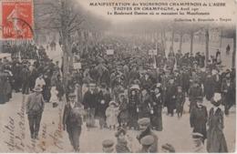 CPA Troyes En Champagne - 9 Avril 1911 - Manifestation Des Vignerons Champenois De L'Aube - Le Boulevard Danton ... - Troyes