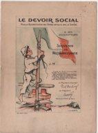 GUERRE 1914 1918 - LE DEVOIR SOCIAL SOUVENIR DE RECONNAISSANCE ILLUSTRATEUR POULBOT, IMPR. MINOT - 1914-18