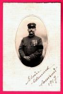 Photographie JAOUEN Rue De Vesle 157 à Reims - Portrait De Militaire Avec Décorations En Médaillon - 1917 - War, Military