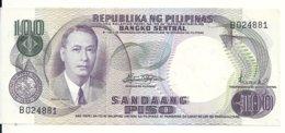 PHILIPPINES 100 PISO ND1969 UNC P 147 B - Filippine