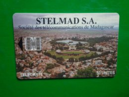 Télécarte Madagascar, STELMAD S.A. , Société Des Télécommunications De Madagascar, 50 Unités Utilisé, Traces - Madagascar