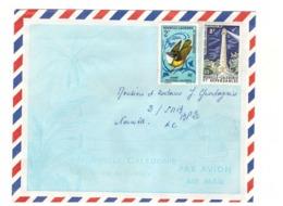Nouvelle Caledonie Lettre Timbre N° 327 346 Oiseau Sourd Phare Amédée - Briefe U. Dokumente