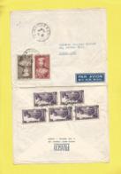 Lettre Entière De Saîgon Vietnam Avec 7 Timbres  Pour Paris Le  31 03 1954 - Vietnam