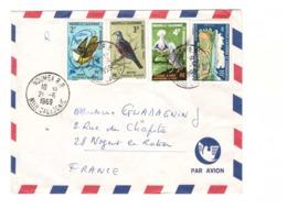 Nouvelle Caledonie Lettre Cachet Noumea 1969 Timbre N° 346 331 348 337 - Briefe U. Dokumente