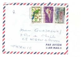 Nouvelle Caledonie Lettre Cachet Noumea 1969 Timbre N° 349 359 356 - Briefe U. Dokumente