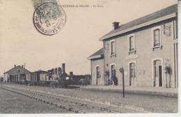 SAUVETERRE DE BEARN - La Gare  ( Train Locomotive )  PRIX FIXE - Sauveterre De Bearn