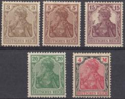 DEUTCHES REICH - Lotto Di 5 Valori Nuovi MH: Yvert 82, 99, 119, 121 E 131, Come Da Immagine. - Nuovi