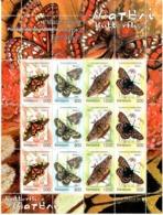 Belarus 2004  .Butterflies. Sheetlet Of 12 (3 Sets) .  Michel #  557-60 Bg. - Bielorussia