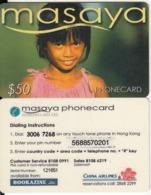 HONG KONG - Masaya Prepaid Card $50, Used - Hongkong