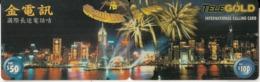 HONG KONG - City View, Millennium 2000, Puzzle Of 2 TeleGold Prepaid Cards $50-$100, Used - Hongkong