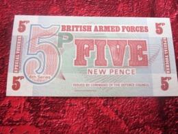 BRITISH ARMED FORCES BANK (BANKNOTE) 5 New Pence Uncirculated Banknote BILLET DE BANQUE - Forze Armate Britanniche & Docuementi Speciali