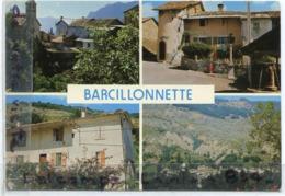 - BARCILLONNETTE - ( H.-Alpes ), Multi Vues, ( 4 ),  Cliché Peu Courant, Coins Ok, écrite, TBE, Scans. - Francia