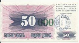 BOSNIE HERZEGOVINE 50000 DINARA 1993 UNC P 55 E - Bosnië En Herzegovina