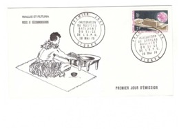 Wallis Futuna Enveloppe Cachet Sigave 1970 Timbre N° 176 Inauguration Batiment UPU - Lettres & Documents