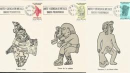 J) 1977 MEXICO, ART AND SCIENCE OF MEXICO, PREHISPANIC DANCES, DANZANTE MAYA, DANZANTE DE LA CULEBRA, DANZANTE DE MONTE - Mexiko
