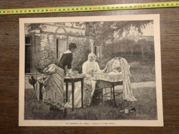 1889 ECDN TABLEAU DE ROGER JOURDAIN LE SOMMEIL DE BEBE - Colecciones