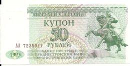 TRANSNISTRIE 50 RUBLEI 1993 UNC P 19 - Moldawien (Moldau)