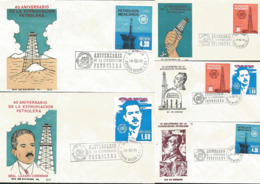 J) 1978 MEXICO, 40 ANNIVERSARY OF THE OIL EXPROPIATION, SET OF 5 FDC - Mexiko