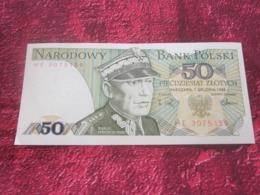Billet De Banque Poland Banknote 50 Piecdziesiat Zlotych Narodowy Bank Polski 88 POLOGNE - Pologne