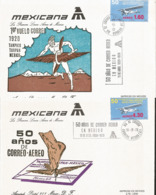 J) 1978 MEXICO, 50th ANNIVERSARY OF THE FIRST MEXICAN AIR POST ROUTE, FIRST FLIGHT MAIL 1928 TAMPICO, TUXPAN, MEXICO, 50 - Mexiko