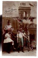 REF 447 : CPA Bonne Année 1915 - Neujahr