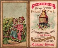 1 Calendrier 1896 Maison Des Abeilles Bees Honey PRINTER Courbe  Rouzet  Bienen Honing Honig Bijen Korf Beehive Bienen - Calendari