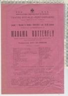 CINEMA MADAME BUTTERFLY PORTOGRUARO TEATRO SOCIALE 1940 ORIGINALE - Pubblicitari