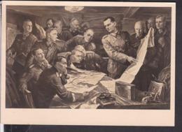 """Postkarte Haus Der Deutschen Kunst 472 """" Vor Der Schlacht """" Deutsche Dienstpost Adria , Laibach 1943 - Storia Postale"""