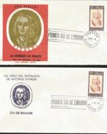 J) 1978 MEXICO, 300 YEARS OF THE BIRTH OF ANTONIO VIVALDI, SET OF 2 FDC - Mexiko