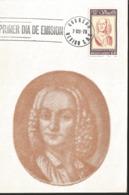 J) 1978 MEXICO, 300 YEARS OF THE BIRTH OF ANTONIO VIVALDI, GUTEMBERG POSTCARD - Mexiko