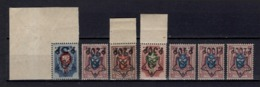 1922 SK 65-69 ** Star Overprint Perforated Full Series MNH OG See Discription - Neufs