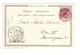 Bureau Allemand Au Cameroun Timbre Sur Carte Cachet 1900 YT N°3 Kamerun Leute Von Der Barombi Station - Colonie: Cameroun