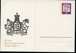 WAPPEN WÜRTTEMBERG 1962  Bund PP27 B2/001 NGK 10,00 € - Briefe U. Dokumente