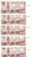 ALGERIA 200 DINARS 1983 P-135 LOT X5 AU/EF NOTES */* - Algeria