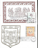 J) 1975 MEXICO, FOUNDATION OF THE GREAT TENOCHTITLAN MEXICO, CODICE DURAN, SHIELD OF THE CITY OF MEXICO, SET OF 2 GUTEMB - Mexiko
