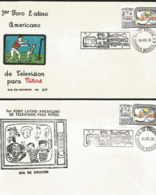 J) 1976 MEXICO, FIRST LATIN AMERICAN TELEVISION FORUM FOR CHILDREN, SET OF 2 FDC - Mexiko