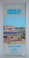 Lebanon Liban Beirut Beyrouth Hotel Chebat Advertising Brochure Dépliant Publicitaire 60's - Advertising