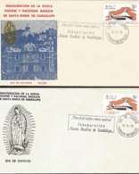 J) 1976 MEXICO, OPENING OF THE NEW BASQUE NATIONAL INSIGNE AND SANTA MARIA DE GUADALUPE, SET OF 2 FDC - Mexiko