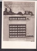 Postkarte Großausstellung 1918 , Wien 1944 , Auslieferung Der Deutschen Flotte - Alemania