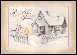 UKRAINE 2012. (2-3584). HAPPY NEW YEAR! WINTER SCENE. COTTAGE, BIRDS. Postal Stationery Stamped Card. Unused Mint - Ucraina