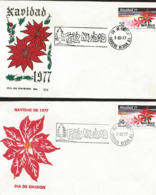 J) 1977 MEXICO, MEXICAN CHRISTMAS, FLOWERS, SET OF 2 FDC - Mexiko