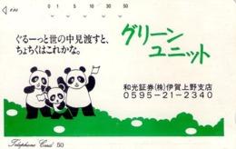 JAPON. OSO PANDA - PANDA BEAR, 0595-21-2340. JP-110-46. (193) - Tarjetas Telefónicas