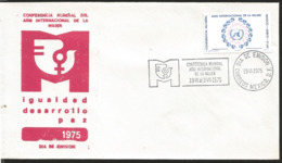 J) 1975 MEXICO, WORLD CONFERENCE OF THE INTERNATIONAL YEAR OF WOMEN, PEACE DEVELOPMENT EQUALITY, FDC - Mexiko