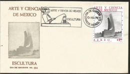J) 1976 MEXICO, ART AND SCIENCE OF MEXICO, SCULPTURE, FDC - Mexiko