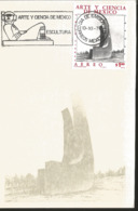 J) 1976 MEXICO, ART AND SCIENCE OF MEXICO, SCULPTURE, GUTEMBERG POSTCARD - Mexiko